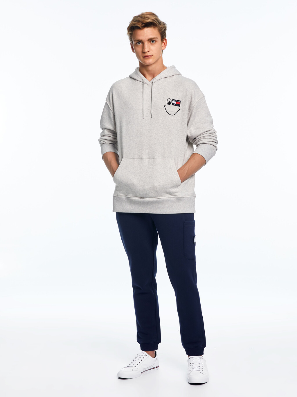 Tommy Badge Smiley Relaxed Fit Hoody