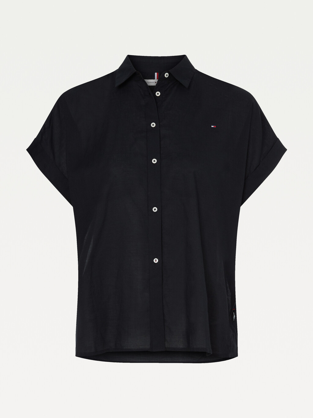 Cotton Voile Relaxed Short Sleeve Shirt