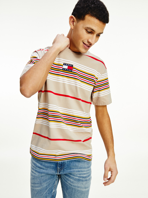 Central Badge Stripe T-Shirt
