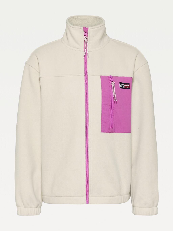 Polar Fleece Zip-Thru Oversized Fit Sweatshirt