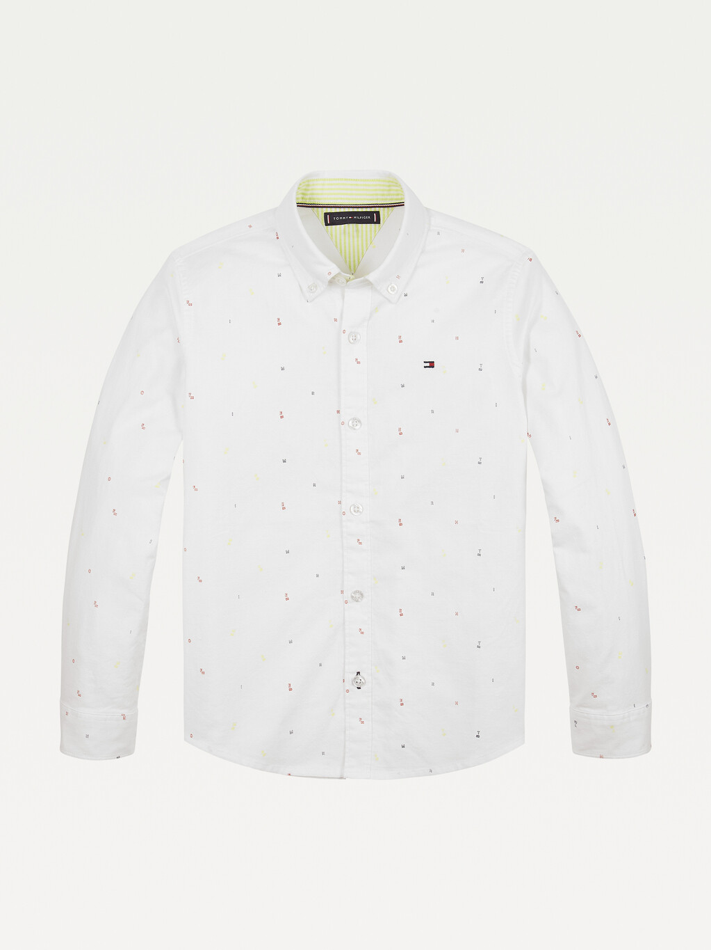 Micro Flag And Letter Embroidery Shirt