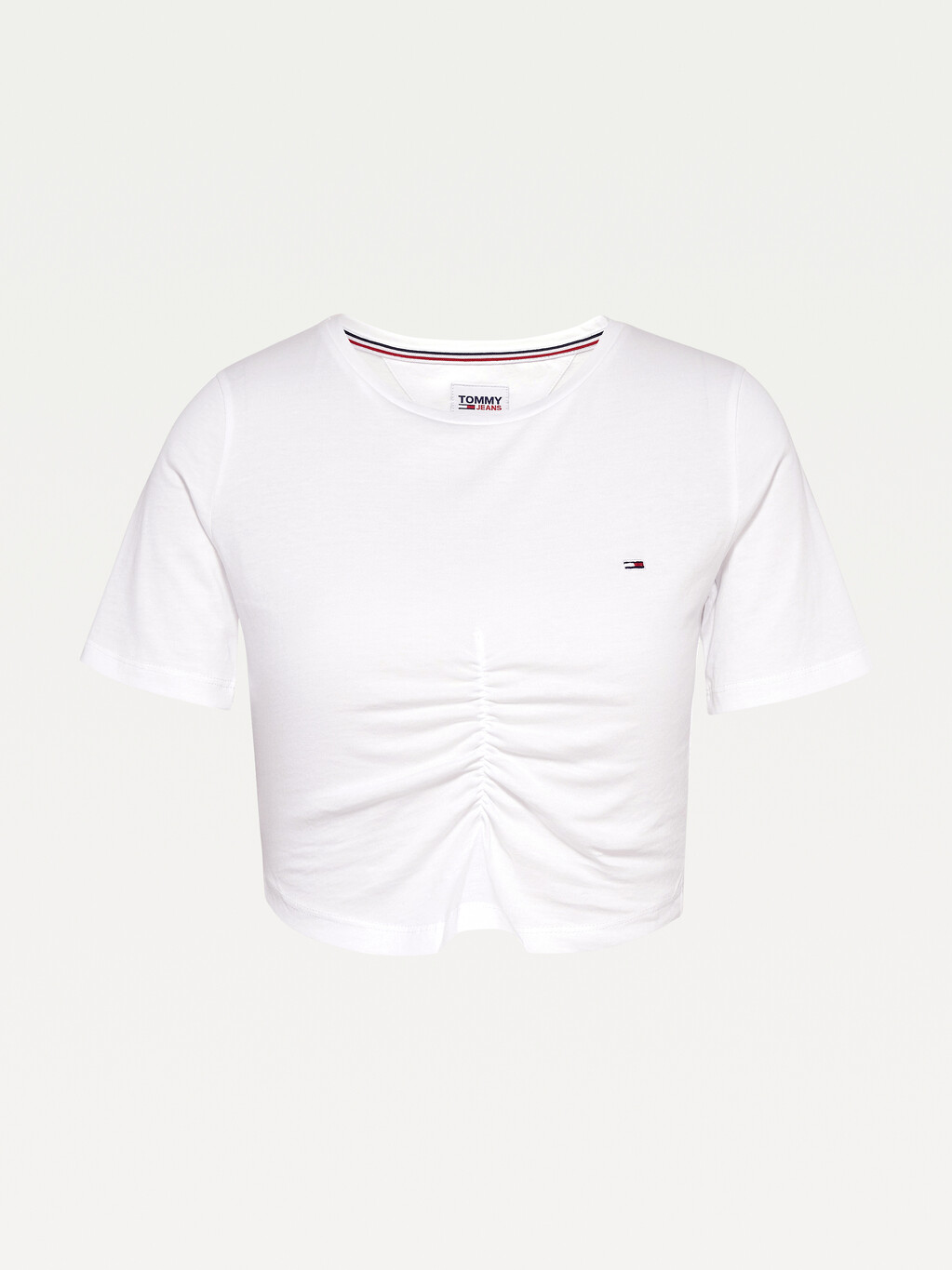 Organic Cotton Ruched Cropped T-Shirt