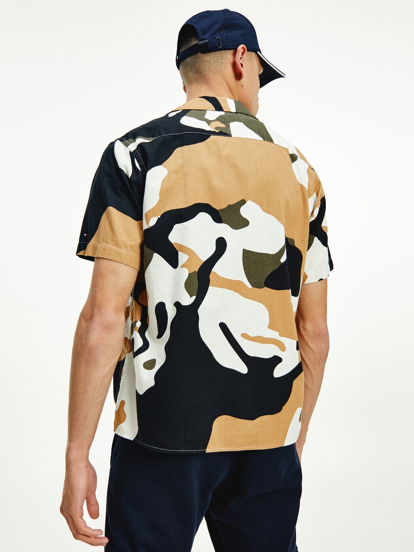 Bold Camo Print Short Sleeve Shirt