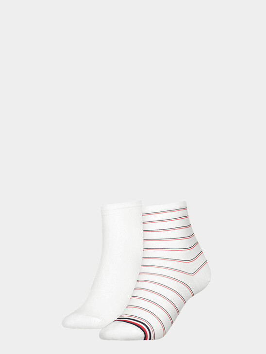 Pinstripe Quarter Socks