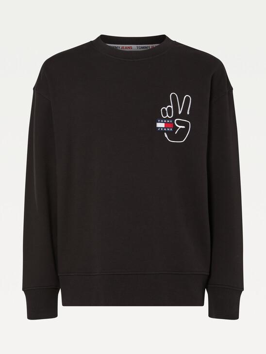 Tommy Badge Peace Sweatshirt