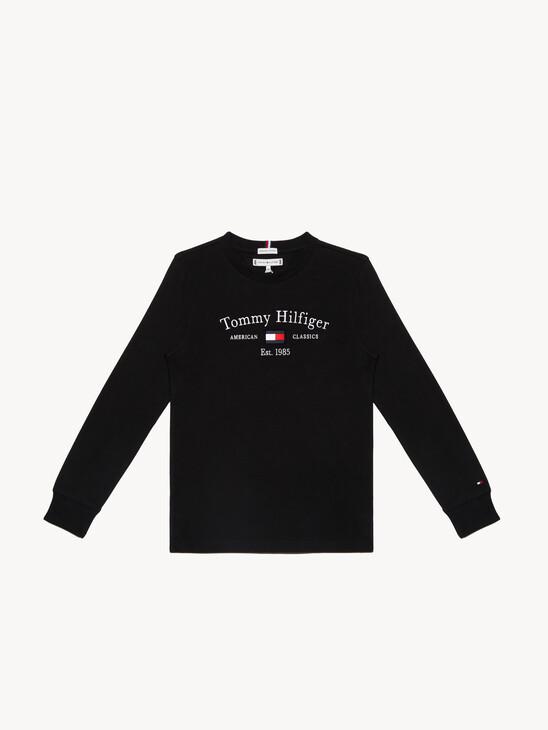 Organic Cotton Long Sleeve Flag T-Shirt