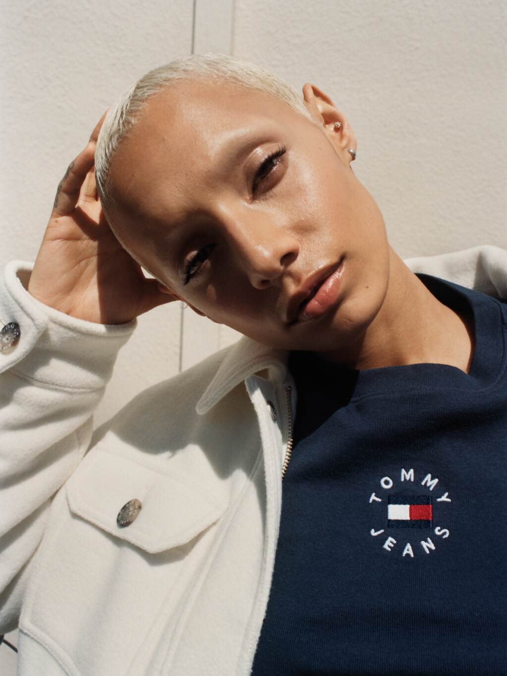 Logo Embroidery Cropped T-Shirt