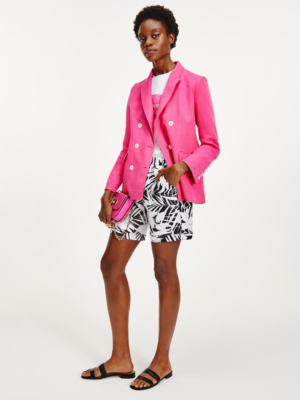 Palm Print Viscose Shorts