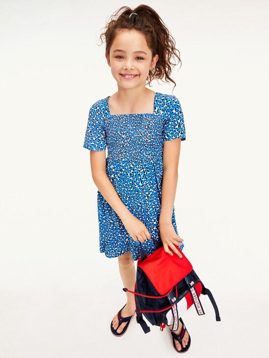 Leopard Print Short Sleeve Dress