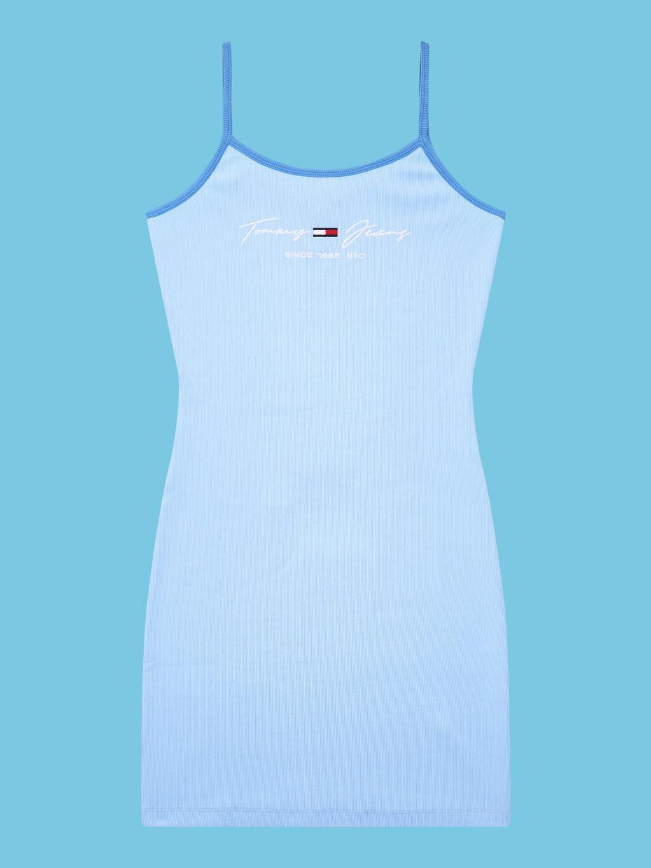 Pastel Strap Bodycon Logo Dress