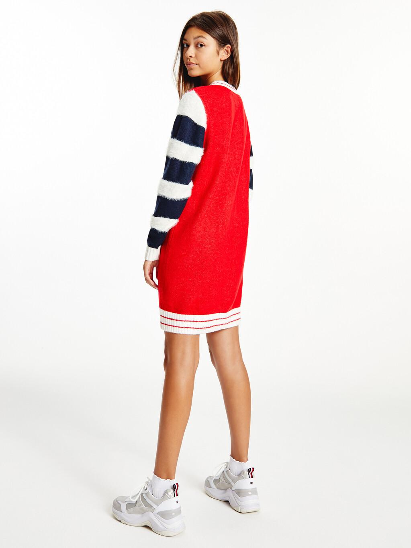 Colour-Blocked Sweatshirt Dress