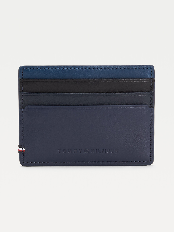 Debossed Logo Leather Card Holder