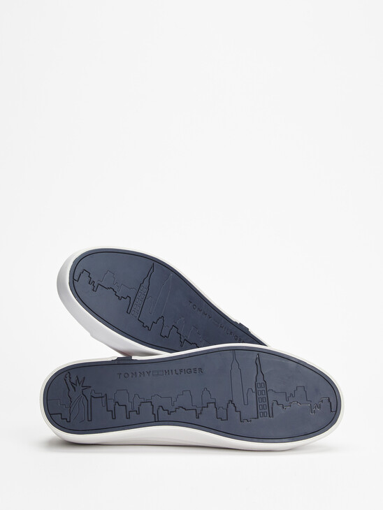 Modern Signature Vulcanised Leather Trainers
