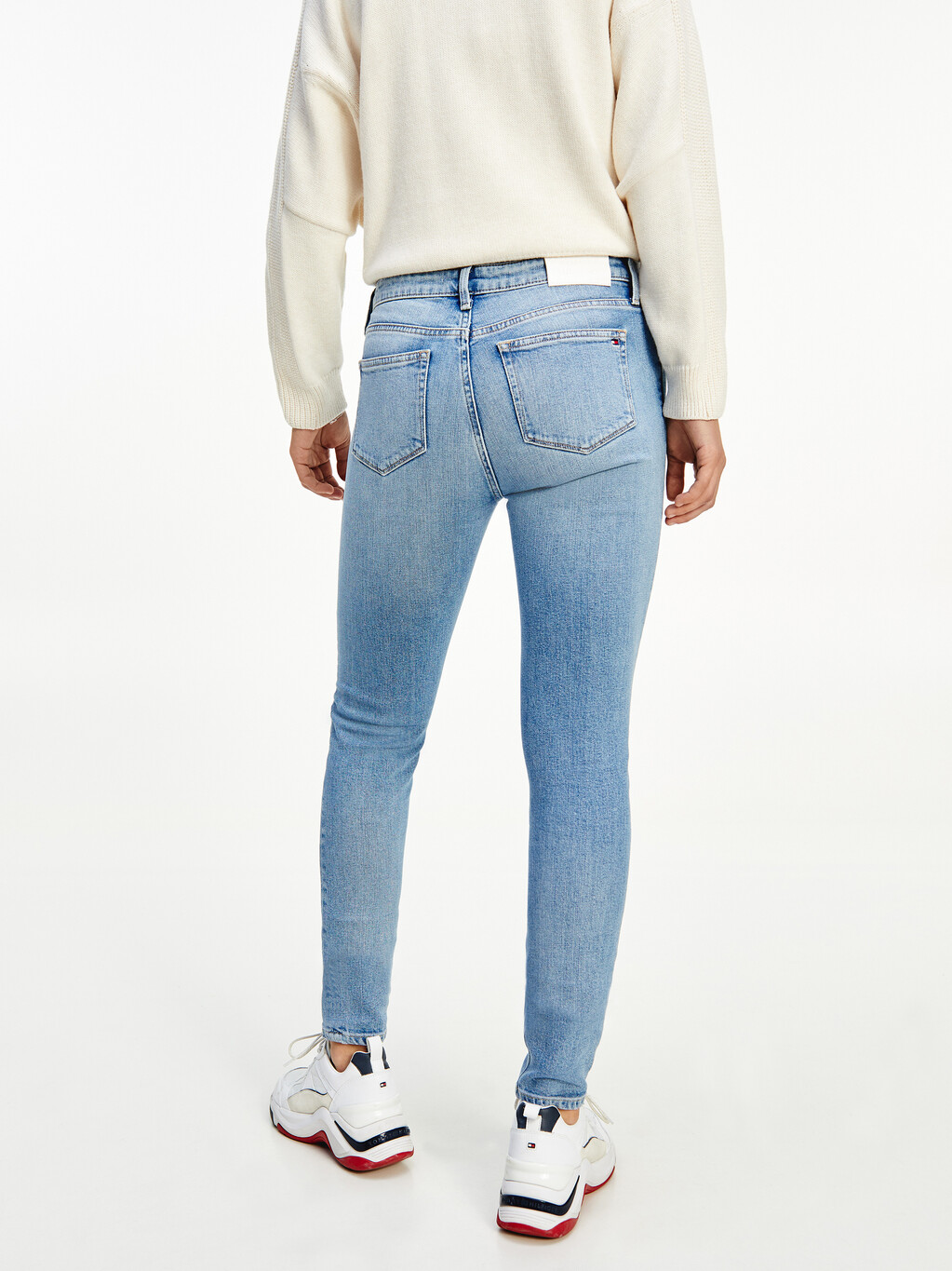 Venice Mid Rise Slim Faded Jeans