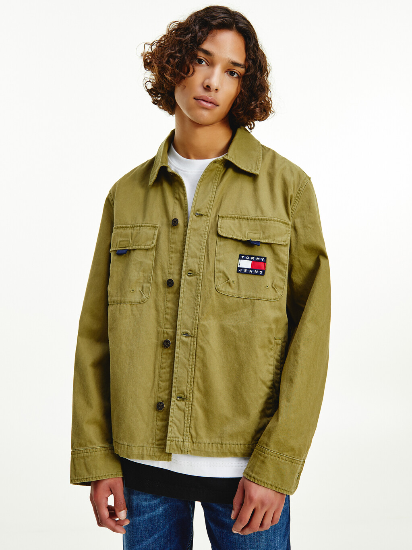 Logo Embroidery Organic Cotton Overshirt