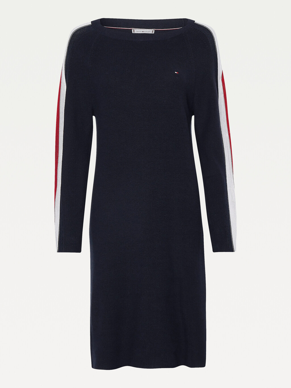 Signature Sleeve Boat Neck Knit Dress