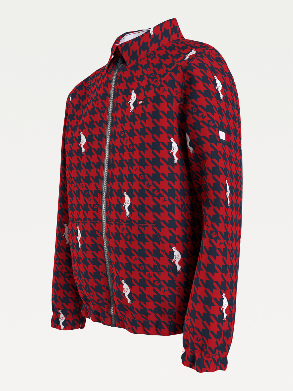 Houndstooth Check Organic Cotton Jacket