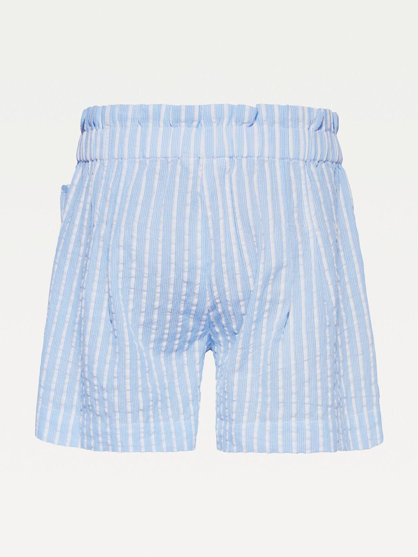 Seersucker Stripe Paperbag Shorts