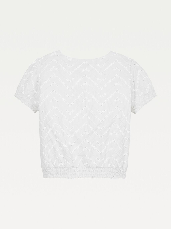 Broderie Anglaise Elasticated Hem T-Shirt
