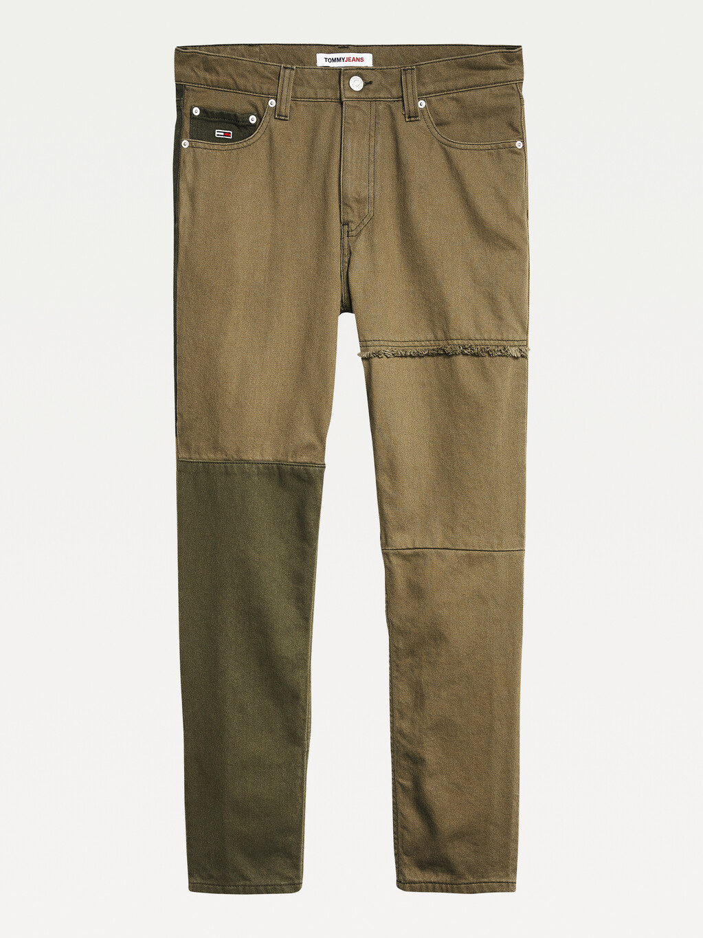 Dad Tapered Contrast Panel Jeans