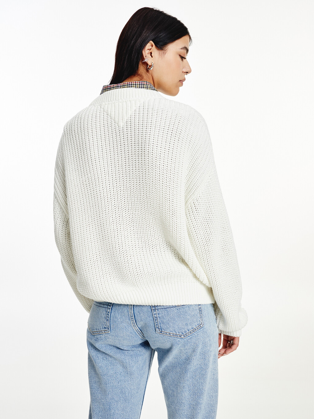 Tommy Badge Chunky Knit Jumper