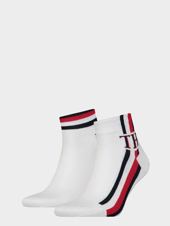 2-Pack  Logo Stripe Quarter Socks