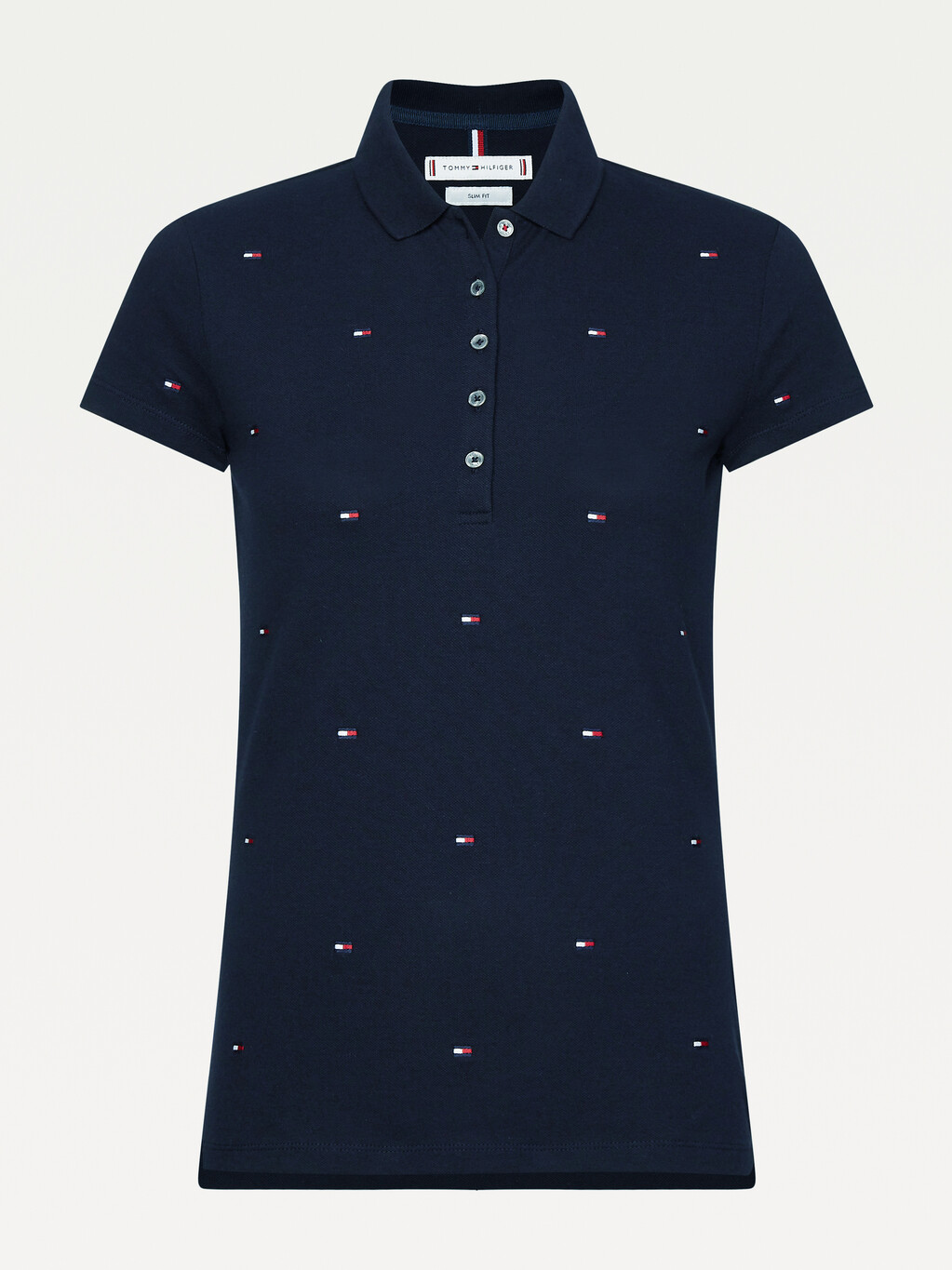 Flag Embroidery Slim Fit Polo