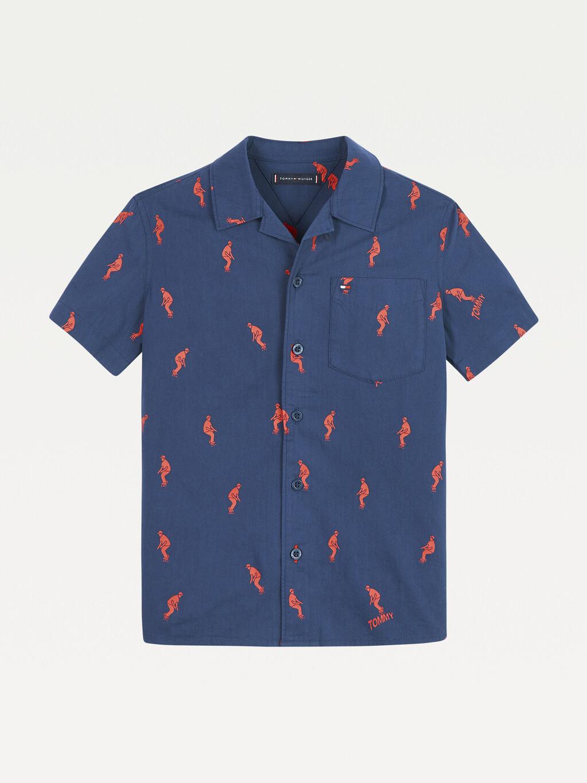 Short Sleeve Skater Print Shirt