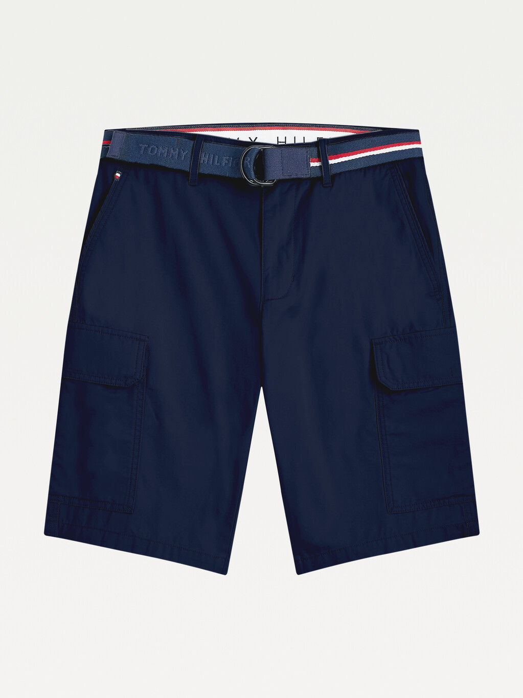 Slim Fit Cargo Belted Shorts