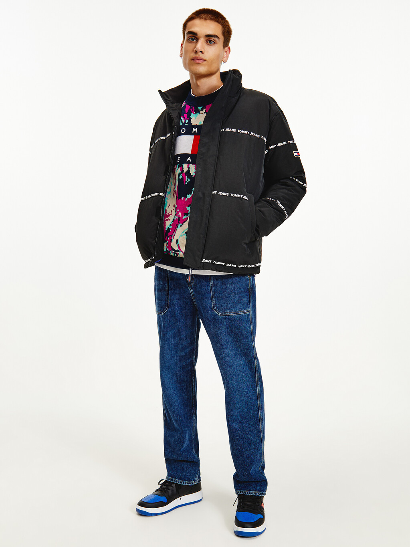 Logo Stripe Puffer Jacket