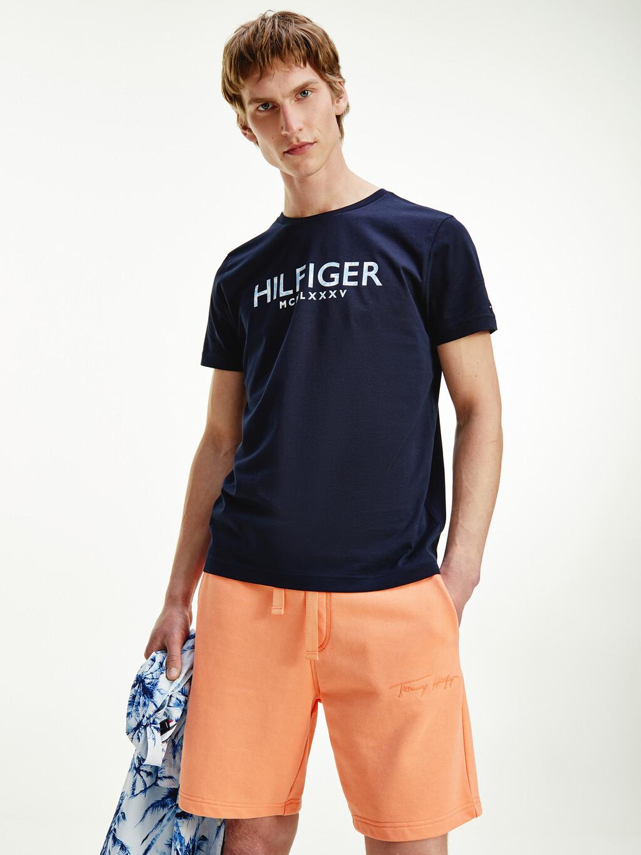 Palm Print Logo Organic Cotton T-Shirt