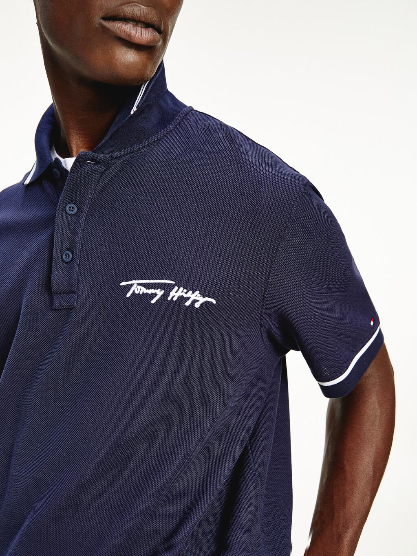 Tipped Signature Logo Polo