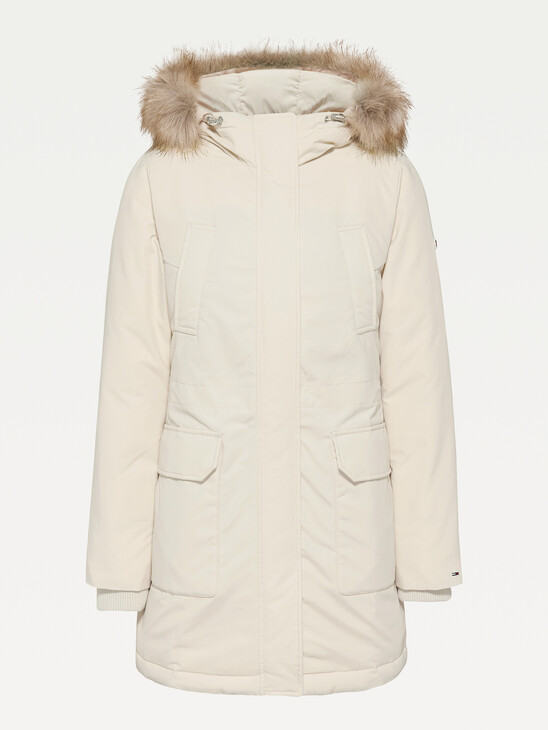Essential Faux Fur Trim Down Parka