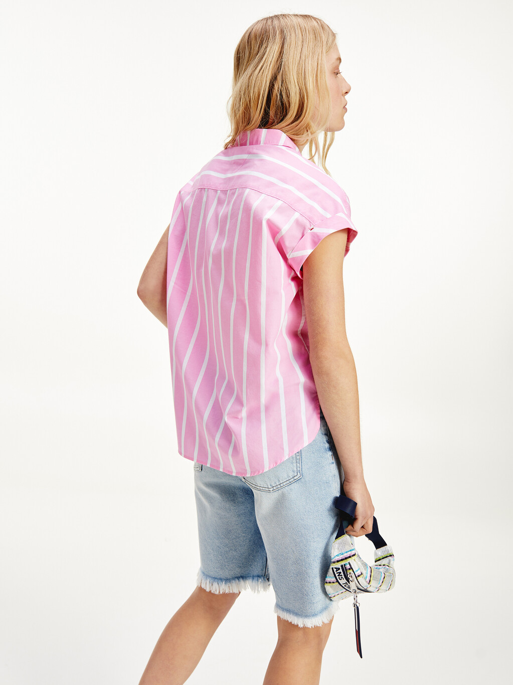 Mixed Stripe Relaxed Fit Shirt