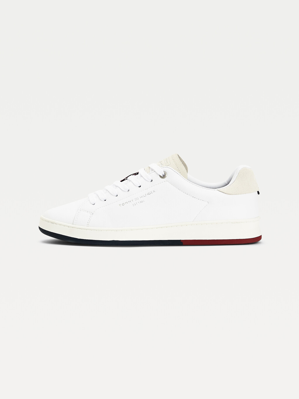 Retro Leather Cupsole Tennis Trainers