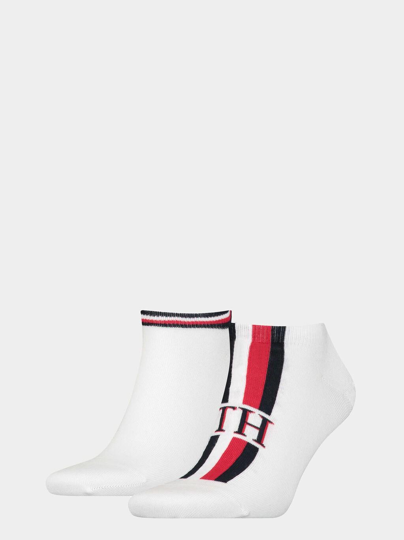 2-Pack  Logo Stripe Sneaker Socks