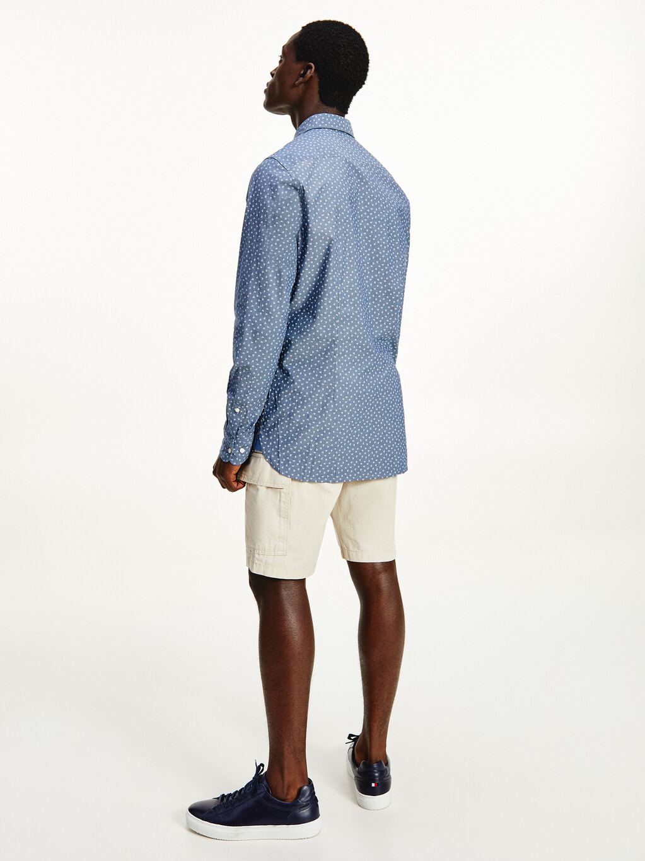 Clover Leaf Print Slim Fit Shirt