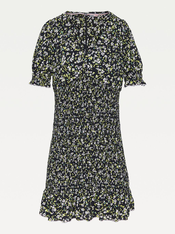 Viscose Floral Smocked Mini Dress