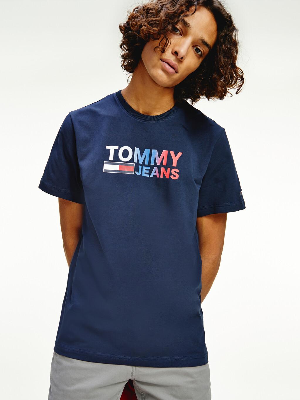Ombre Logo Stretch Organic Jersey T-Shirt