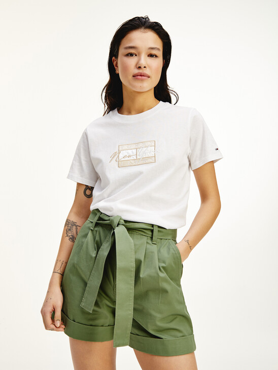 New York Logo Embroidery T-Shirt