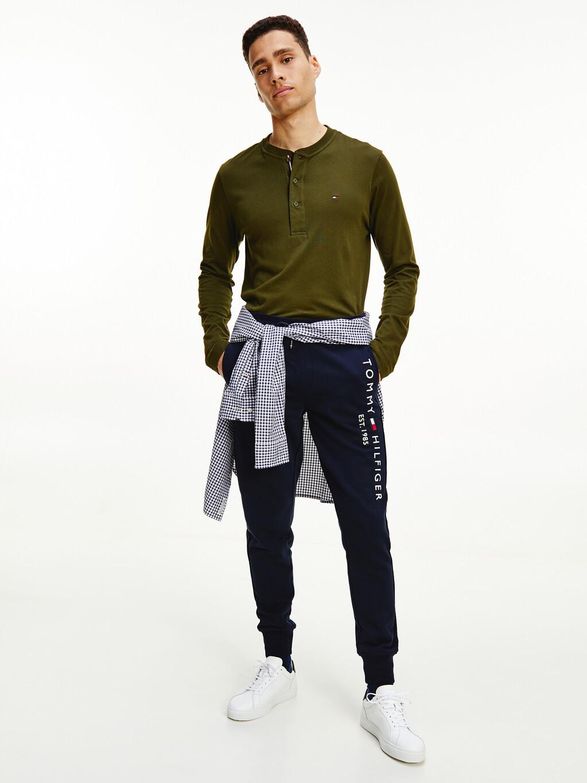 Henley Long Sleeve Organic Cotton T-Shirt