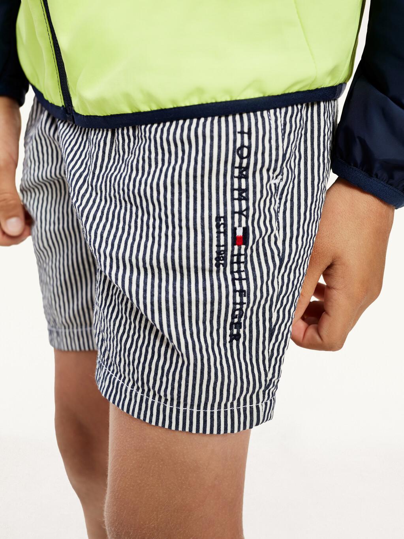 Stripe Cotton Seersucker Shorts