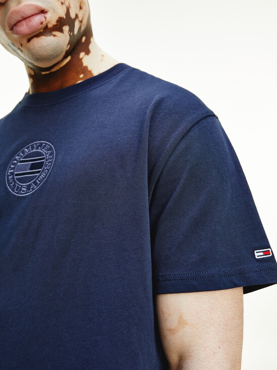 Logo Embroidery Back T-Shirt