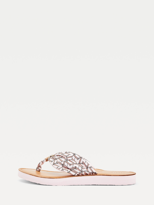 Monogram Leather Footbed Sandals