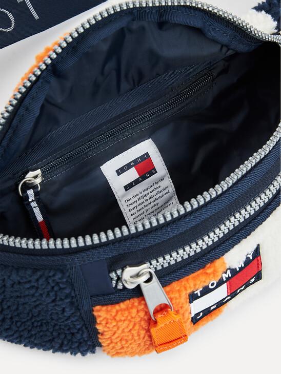 Colour-Blocked Sherpa Bum Bag