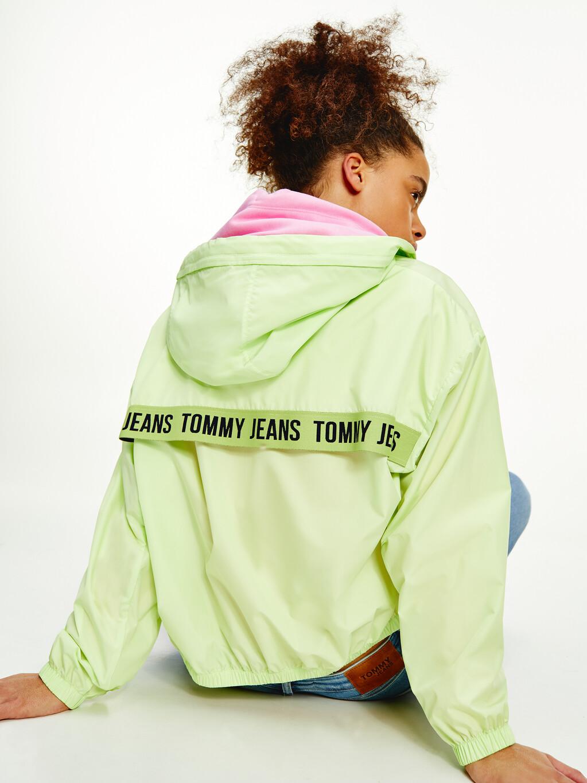Repeat Logo Tape Packable Hood Jacket