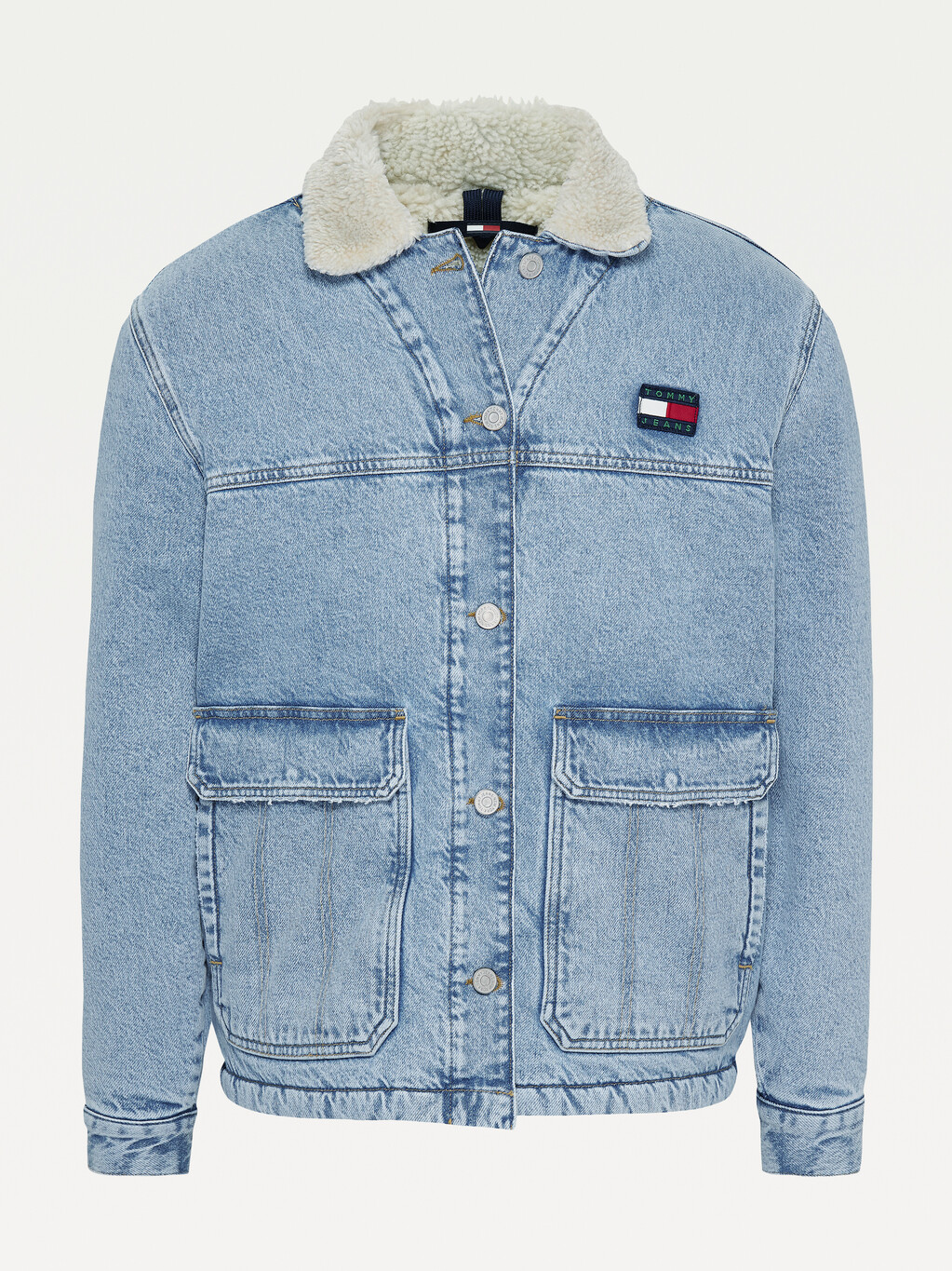 Tommy Badge Sherpa Lined Worker Jacket