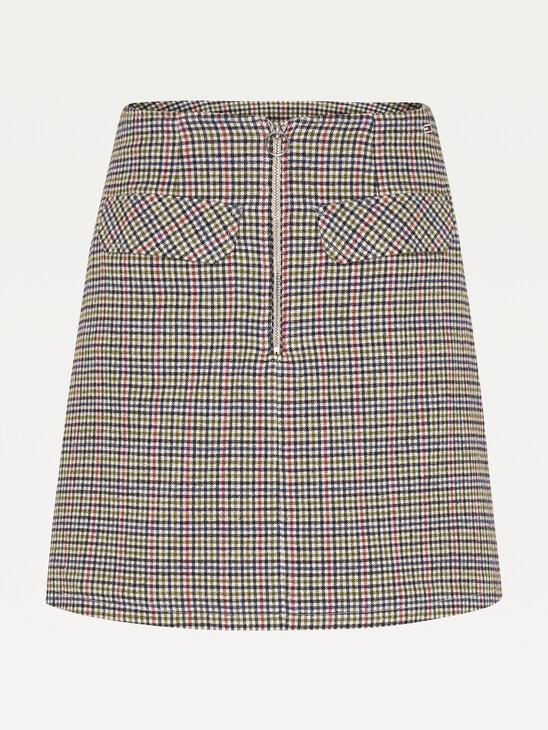 Check Organic Cotton Mini Skirt