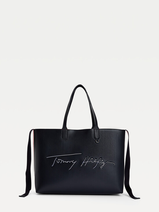 Iconic Signature Embroidery Tote Bag