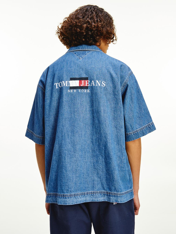 Tommy Badge Denim Utility Overshirt